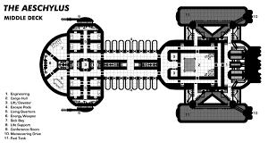 Technical Schematic Of Novaclass Starship  Star Trek  Nova Spaceship Floor Plan