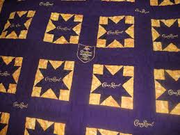 Katie's Quilts and Crafts: Crown Royal Quilt Finished! & Closeup of the quilting/center. Adamdwight.com