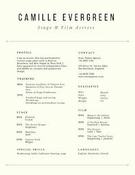 Acting Resume Extraordinary Customize 28 Acting Resume Templates Online Canva