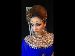 asian bridal hair and makeup tutorial arabic inspired