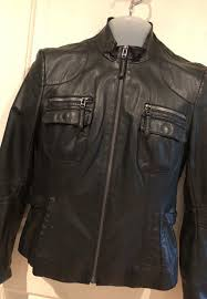 new york company faux leather jacket size m