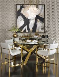 fabric needed for dining room chairs. refined dining - the sophisticated bold and gold decor features costello table with fabric needed for room chairs