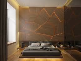 bedroom wall furniture. Bedroom Wall Decor, Asymmetrical Wooden Shapes, Lit From Behind, Decorating One Of Furniture