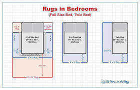 rugs size guide for bedrooms full or twin bed