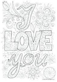 I Love You Coloring Pages For Adults Together With I Love You Color