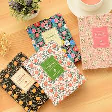 <b>2019 New Arrival Cute</b> PU Leather Floral Flower Schedule Book ...