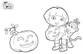 Gratuit Halloween Dora Monstres Archives Coloriages Pour Enfants