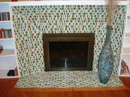 beautiful glass mosaic tile fireplace surround and white bookshelves mantel decoration design ideas inspiring tile