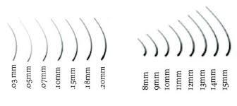Fake Eyelash Size Chart Eyelash Extension Size Chart Guidelines For Curl Diameter