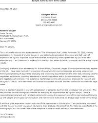 Law School Cover Letters Cover Letter Lawyer Securities Lawyer