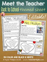 Meet The Teacher Letter Templates Nylas Crafty Teaching Meet The Teacher Letter Templates
