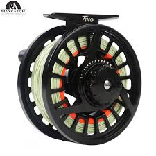 tino 5 6wt casting aluminum fly reel with 5 6wt fly line