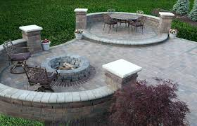 fire pit for small patio brick and stone patios ideas firepit outdoor plans gas