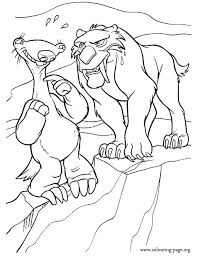 Small Picture Ice Age Diego angry with Sid coloring page