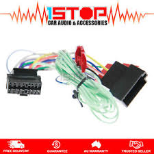 iso wiring harness for sony xav 601bt adaptor cable connector lead image is loading iso wiring harness for sony xav 601bt adaptor