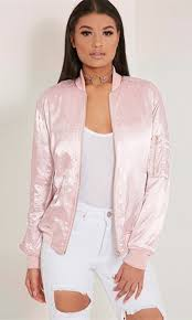 women s fashion long sleeve zip up solid er jacket with pockets pink sl5332kf 1