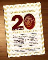 Class Reunion Invitations Templates Chevron Class Reunion Invitation High School Reunion 15