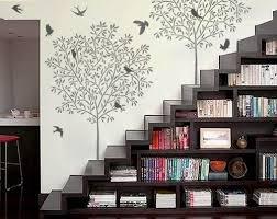 impressive idea wall decor for home songbirds stencils 10 reusable