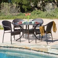 round outdoor dining sets. Unique Dining Best Selling Home Decor 294949 Sunset 5Piece Round Outdoor Dining Set Throughout Sets
