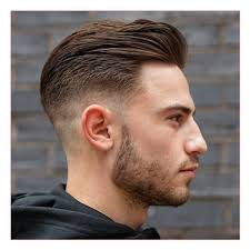 Slicked Back Hair Style new model with mid fade with long slicked back hair and short 5719 by stevesalt.us