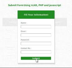 Submit Form Form Submission Using Ajax Php And Javascript Formget