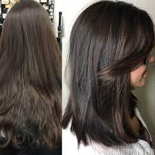 Dark Hair Style balayage dark hair lob haircut dark brown hair chocolate brown 7691 by wearticles.com