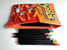 once your bag has been flipped right side out you are ready to fill it up with your school supplies