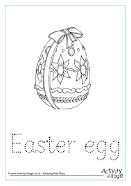 word easter egg easter egg word tracing