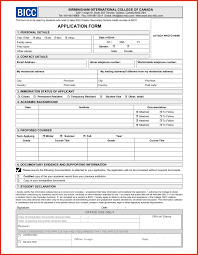 Sample College Resume Form Unique Application Form Format For Student Type Of Resume 78