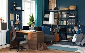 ikea uk home office. Ikea Home Office Desk Choice Gallery Furniture A Wooden With Drawers In An Study Blue Walls Desks Uk