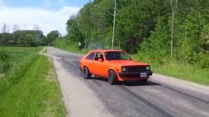 1987 Chevy Chevette Burnout - YouTube