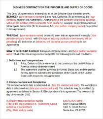 Business Agreement Sample. Free Business Agreement Template ...