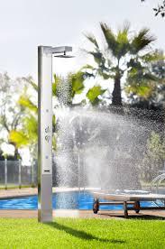 solar outdoor shower stainless steel iguazu