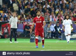 Mohamed Salah of Liverpool in action during the UEFA Champions League Final  2018 game against Real Madrid Stock Photo - Alamy