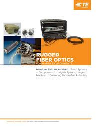 te connectivity fibre optics