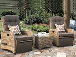 rocking reclining rattan bistro set in cappuccino brown