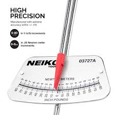Inch Pounds To Newton Meters Chart Neiko 03727a 1 4 Inch Drive Beam Style Torque Wrench 0 80 In Lb 9 Nm