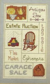 Yard Sale Pricing Chart Details About Junque Collectors Sampler Cross Stitch Pattern Chart From Magazine Garage Sale