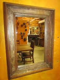 image is loading rustic old door mirror mexican 13x18 western antique