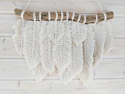 white bamboo design handmade macrame