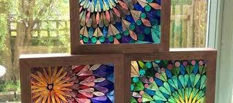 wall art panels lovely fused glass wall art panels