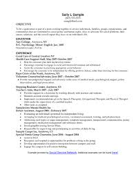Social Work Resume Objective Statements Resume For Study