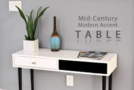 mid century modern accent table diy
