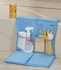 bathtub caddy with kneeling pad com