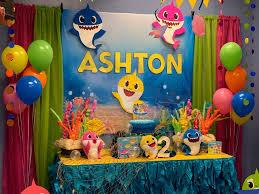 baby shark birthday party decorations