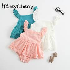 Summer New <b>Baby Girls</b> Romper Kazakhstan Skirt Cotton ...