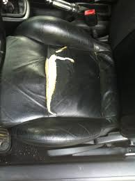 repairing leather car seat driver side