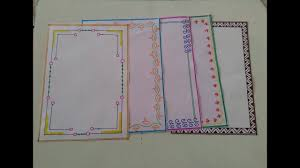 Easy To Make Border Designs How To Make Beautiful Page Border Design For School And College Projects Easy Page Border Tutorial7