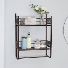 magnolia bathroom collection wall shelf oil rubbed bronze