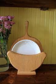 paper plate holders plate holder